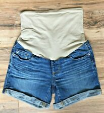 Women's A Pea in the Pod Denim Jeans Maternity Shorts Cuffed Sz Small