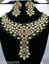 Bollywood Jodha Akbar Bridal Kundan Necklace/Earring Absolutely Beautiful WOW!