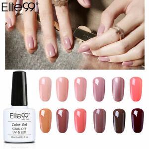 Elite99 Nude Colour Gel Polish Manicure 10ML UV LED Nail Lacquer Top Base Coat