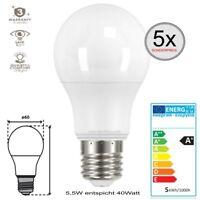 E27 LED SMD Leuchtmittel Glühlampe 5,5W entspricht 40W Coolweiß Birne 5 Stück