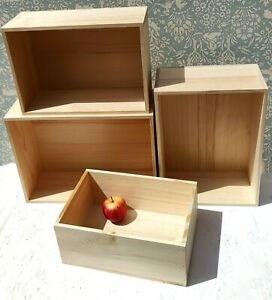 Quality Pine wood Storage unit Wooden BREAD BOX Pyrography Fruit CRATE ECO