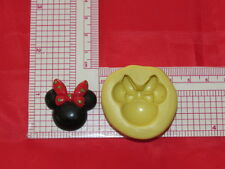 Minnie Mouse with Bow Silicone Mold Cake Pop Fondant Resin Clay Craft Candy A8