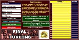 FINAL FURLONG Horse Racing System