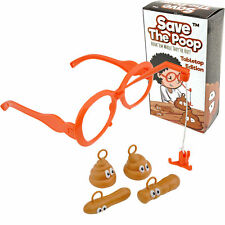 SAVE THE POOP Hilarious Poop Toy & Game for Kids Adults Fake Poop White Elephant