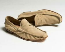 Kiton $1,695 NIB Beige Suede Leather Penny Loafers Shoes 9.5 US