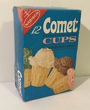 Vintage 60's 1960s Comet Ice Cream Cones Box Old Grocery Store Kids Food Rare