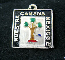 RARE Silver CHARM, Girl Scouts Guides OUR CABANA Mexico, WAGGGS World Center EUC