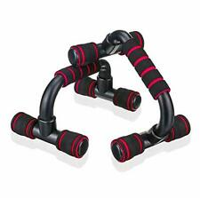 Push Up Bars Parallettes Set Home Workout Equipment Push-up Bracket Board Red