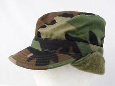 Army Issue Combat Cap BDU woodland camo w/ Neck/ear warmer XS X-small kids women