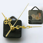 1 Set Gold Hands DIY Quartz Wall Clock Spindle Movement Mechanism Repair Parts