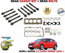 FOR OPEL VAUXHALL ASTRA J 1.6 TURBO A16LET 2009-> HEAD GASKET SET + BOLT KIT