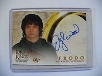 Lord of the Rings 'Elijah Wood as Frodo' Autograph Card by Topps FOTR