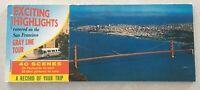 Vintage NOS San Francisco Post Card Booklet, Gray Line Bus Tours