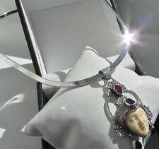 CELESTIAL🌛 34g sterling silver 925 fully HM Sajen style choker collar necklace