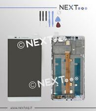 Schermo display touch screen vetro Huawei Mate 7 bianco + kit riparazione