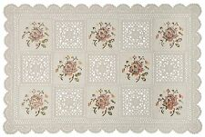 "Set of 4 Placemats Vinyl 12""x18"" Non Skid Indoor/Outdoor. Washable Lace Placemat"