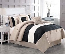 6-Piece Mandarin Comforter Set, Taupe, King