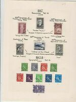 Finland 1947 Stamps on album page Ref 15136
