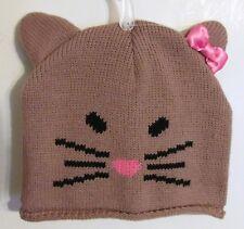 Girls Cute Knit Animal (Kitty Cat) Beanie Cap (One Size) Brand New W Tags