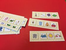 Montessori - Pre-Reading Series - WHAT GOES TOGETHER? Laminated Activity set