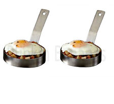 2 LARGE EGG RING PROFESSIONAL HEAVY DUTY CATERING CATERER FRIED FRYING PANCAKE