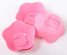 Hello Kitty Slicon KT Shaped Silicone Cupcake Mold Muffin Cup Soap Mould Tray