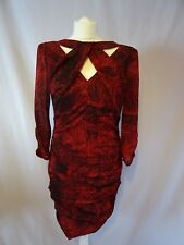 WHISTLES Party special occasion Silk Red dress size UK12