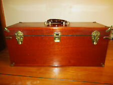 Vintage Abercrombie & Fitch Original Wood Carrying Case w/Brass Clasps & Trim