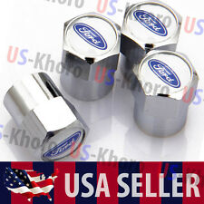 Ford Car/Truck Logo Valves Stems Caps Covers Chromed Roundel Wheel Tire Emblem 3