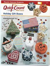 Holiday Boxes Plastic Canvas Patterns Book 9 Projects See pics.