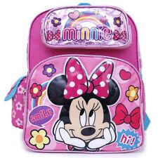 "Disney Minnie Mouse Small School Backpack 12"" Girls Pink Book Bag Hi Cute"