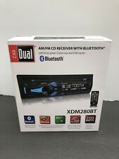 DUAL XDM280BT 1 Din AM/FM CD/MP3 Player Car Receiver USB AUX Input Bluetooth new