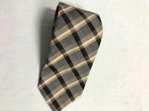 Banana Republic Silk Tie Striped Brown