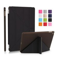iPad Smart Magnetic Cover Multi Folding Shock Proof iPad Protective Case  BLACK