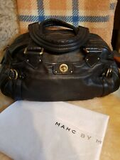 MARC JACOB'S VINTAGE GROOVEE Q BLACK SOFT LAMBSKIN WITH DUSTER  #30/1