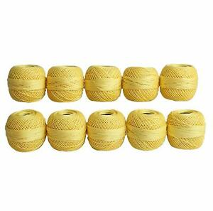 Cotton Mercerised Embroidered Fast Colour Thread Balls Pack of 10 Balls