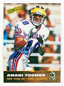 Amani Toomer #41 (1996 Score Board) All Sport PPF, ROOKIE! Michigan Wolverines