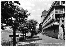 AK, Unkel am Rhein, Rheinpromenade mir Hotel Schulz, 1956