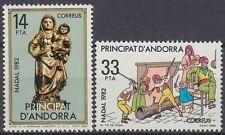 Andorra Andorre 1982 ** mi.163/64 NATALE CHRISTMAS FAMIGLIA FAMILY [st0247]