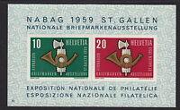 SWITZERLAND :1959 Stamp Exhibition miniature sheet SG MS600a unmounted mint