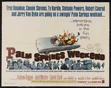 PALM SPRINGS WEEKEND Movie POSTER 30x40 Troy Donahue Ty Hardin Connie Stevens