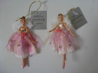 Gisela Graham Fairy Princess Resin/Fabric Christmas Decoration (2 asst) 11cms