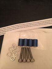 22mm Blu in acciaio inox cofano RAISERS / distanziatori / aste ROVER MG ZR 200 75 25