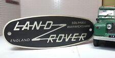 Toylander Land Rover Série 2 A échelle 1/2 gravée Solihull baignoire Grille Badge