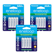 Panasonic Eneloop AAA 12 Pack Rechargeable Batteries up to 2100 Charges NEW