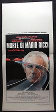 LOCANDINA CINEMA - MORTE DI MARIO RICCI - G. MARIA VOLONTE' - 1983 - DRAMMATICO