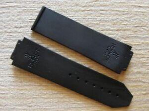 HIgh Quality Black Flat Tire Rubber Strap W/Logo For 44-45mm Hub Big Bang Watch