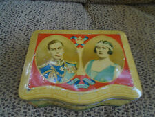 King George VI and Queen Elizabeth Biscuit Tin