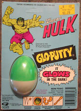 Glo Putty Silly Putty Marvel Incredible Hulk glow in dark 1978 sealed
