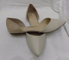 Apt. 9 Brady Bone Lt Tan Womens Fx Leather Slide No Low Heel Dress Pump Shoe 10